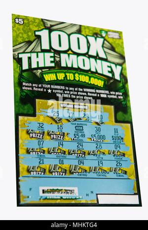 L'état du ticket de loterie gagnant