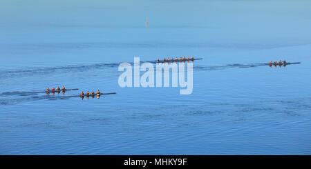 L'UWA Rowing Club sur la rivière Swan. Perth, Australie occidentale Banque D'Images