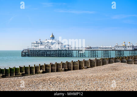La jetée d''Eastbourne, Eastbourne, East Sussex, Angleterre du Sud, FR, UK Banque D'Images