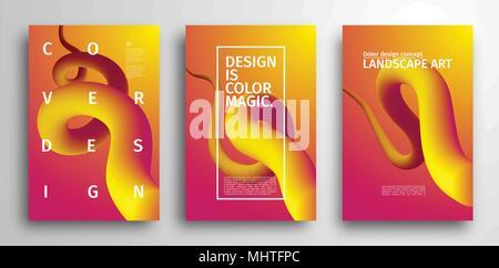 Motif de fond coloré. Abstract vector design graphique géométrique. Conception de la couverture minimaliste aux couleurs vives Banque D'Images