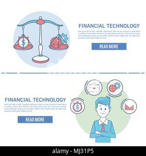 La technologie financière infographie Banque D'Images