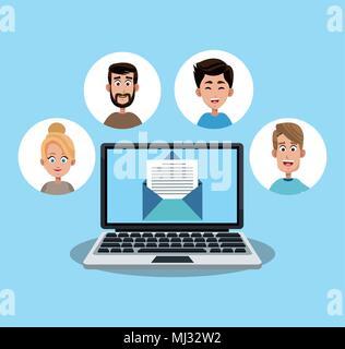 Email marketing et réseau Banque D'Images