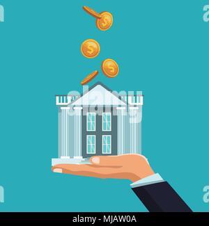 Des crédits relevant de la construction de la banque Banque D'Images