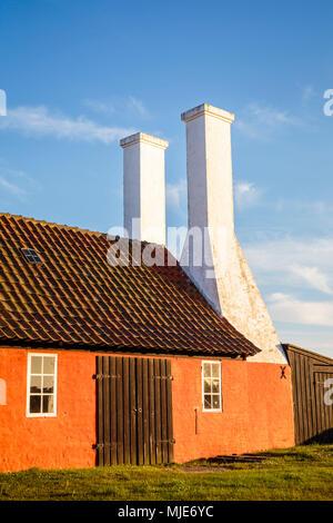 Le fumoir de Hasle, Europe, Danemark, Bornholm, Banque D'Images