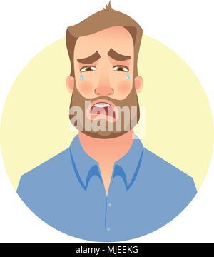 Visage de l'homme à barbe Banque D'Images