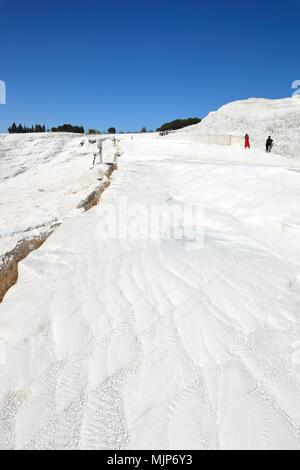 Pamukkale - dépôts de calcium à partir de sources thermales naturelles, Turquie Banque D'Images