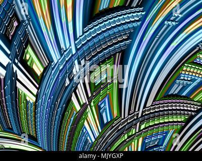 Abstract fractal à haute résolution de fond brillant effet spinning Banque D'Images
