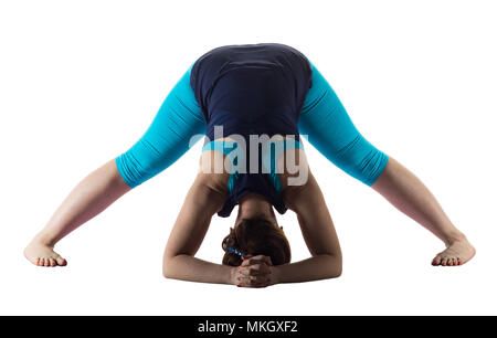 Woman doing yoga Banque D'Images