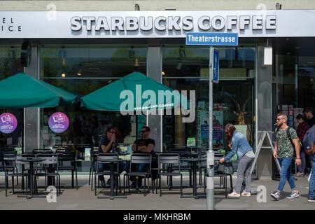 Café Starbucks à Zurich, Suisse Banque D'Images