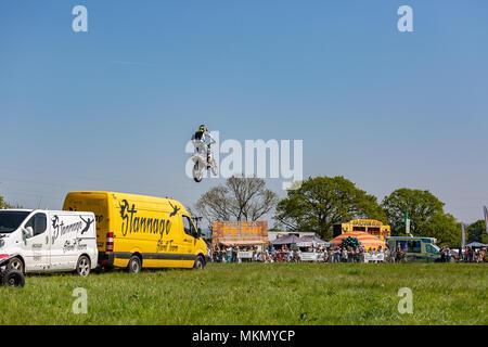 Marais Netley, Hampshire, Royaume-Uni. 6 mai 2018. Le premier jour, de l'événement de deux jours, Hampshire Game & Country Fair attire les foules par une chaude journée ensoleillée. Banque D'Images