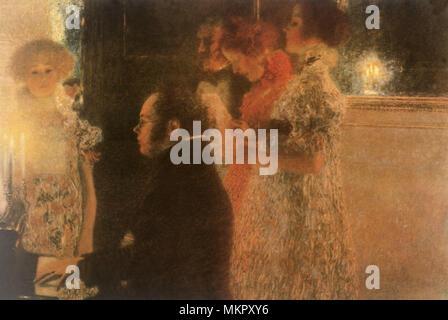 Schubert au Piano II Banque D'Images