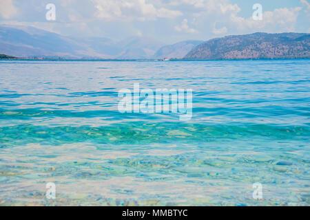 Beau panorama seascape. Composition de la nature. Eau bleu clair.National Marine Park,Seascape background,l'été mer océan locations Banque D'Images