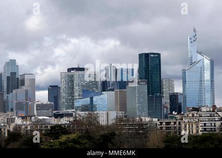 Quartier d'affaires de la Défense, en France. Banque D'Images