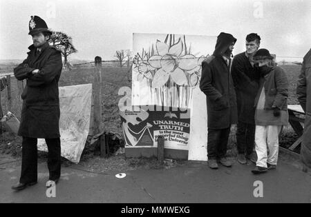 Greenham Common Womens camp de Paix, 1985, personnes qui protestaient. 1980 UK HOMER SYKES Banque D'Images