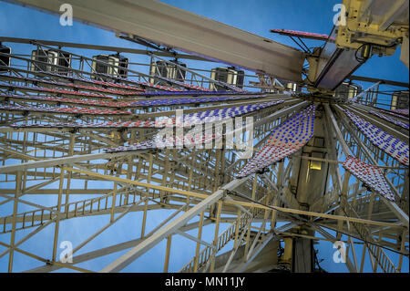 Grande Roue de Paris, la grande roue sur la Place de la Concorde à Paris Banque D'Images