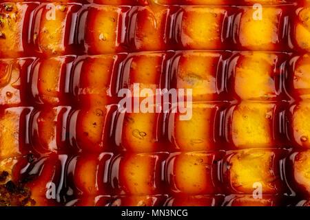 Arrière-plan de jelly cake remplissage, macro, vue d'en haut Banque D'Images