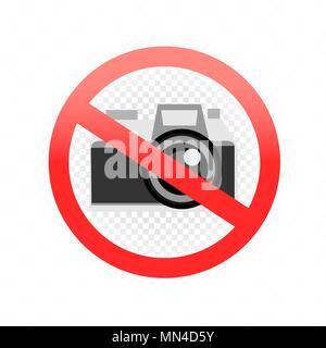 Aucune photographie admis sign Banque D'Images