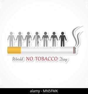 Vector illustration,affiche ou bannière pour la Journée mondiale sans tabac Banque D'Images