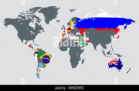 Am rique du nord avec les pays site gray banque d 39 images - Prochaine coupe du monde de football ...