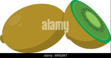 De délicieux fruits kiwi tranche
