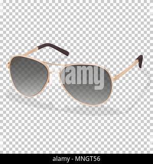 a52d33260990d6 Hipster verres isolés · Lunettes de soleil, vector illustration réaliste.  La mode chic élégant et lunettes noires avec