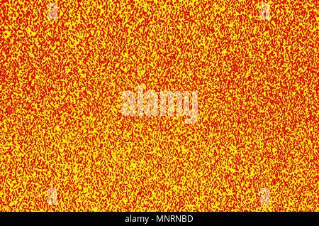 Résumé fond coloré - jaune et rouge bruit tv Banque D'Images