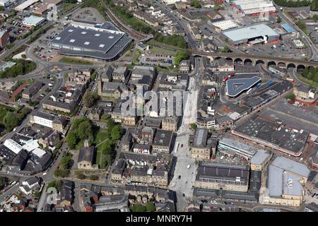 Vue aérienne de la ville de Lancashire Accrington Banque D'Images
