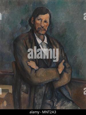 965 Paul Cézanne, c.1899, l'Homme aux bras croisés (Homme avec bras croisés), huile sur toile, 92 x 72,7 cm, Musée Solomon R. Guggenheim Banque D'Images