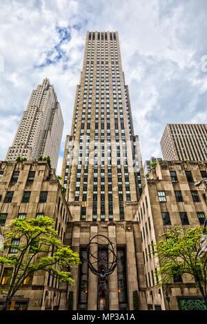 Le Rockefeller Center à New York City, USA. Banque D'Images