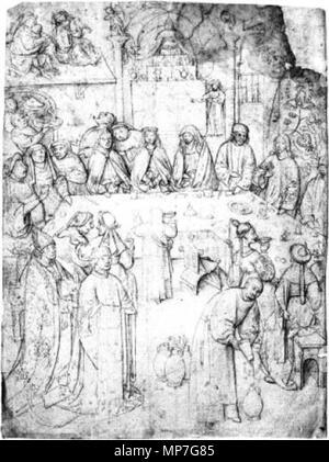 Le mariage à Cana. 16e siècle. Après Jérôme Bosch (vers 1450-1516) Noms alternatifs Jheronimus Bosch Jheronimus van Aken, Jheronimus van Aeken Jheronimus van Aken, Anthonissoen Description peintre flamand et tiroir Date de naissance/décès vers 1450 9 août 1516 (enterré) Lieu de naissance/décès-le-Duc ('s-Hertogenbosch) période de travail, lieu de travail 1474-1516 's-Hertogenbosch contrôle d'autorité: Q130531: VIAF 76401424 ISNI: 0000 0001 2102 478X ULAN: 500000759 RCAC: n79004071 NLA: 35020462 680 WorldCat J. Bosch (attribué à) Le mariage à Cana Banque D'Images