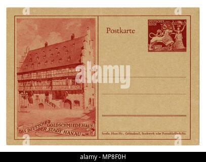 Ancienne carte postale Allemande / carte postale: 10e anniversaire de la société nationale des bijoutiers. Août 1942, la seconde guerre mondiale, l'Allemagne, Troisième Reich