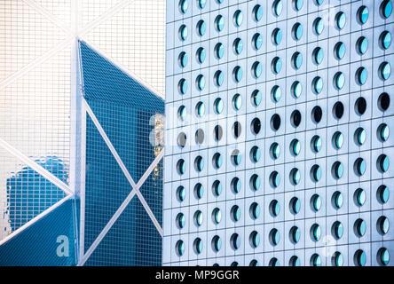 Contexte d'immeubles de bureaux à Hong Kong Banque D'Images