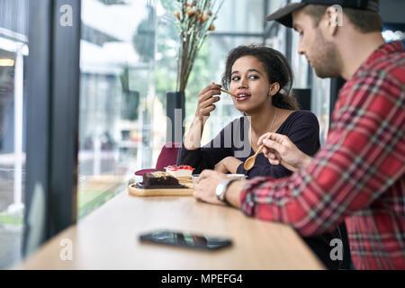 Datant de couple interracial Banque D'Images