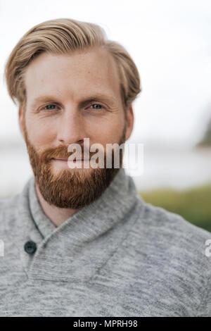 Portrait d'homme barbu