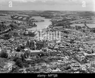 Truro, Cornwall, en 1946. Artiste: Aeropictorial Ltd. Banque D'Images