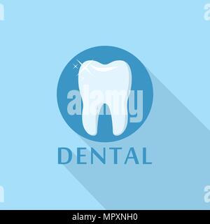 Logo dentaire, l'icône de style plat Banque D'Images
