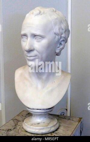 Buste de Jean Le Rond D'Alembert par Guillaume Francin 1741-1830. Jean-Baptiste le Rond D'Alembert (1717 - 1783) était un mathématicien français, scientifique américain, physicien, philosophe et théoricien de la musique. Banque D'Images