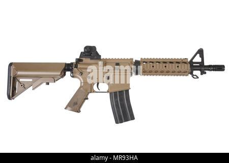 Forces spéciales M4 carbine isolé sur fond blanc Banque D'Images