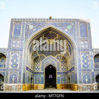 Vue sur la mosquée Jameh d'Isfahan - Iran Banque D'Images