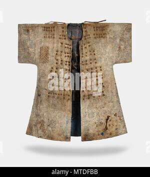 Armure de coton portés par 18e siècle soldat coréen cette image publié par la Fondation du patrimoine culturel coréen d'outre-mer le 30 mai 2018, montre un costume de coton armure qui a été porté par un soldat coréen de la dynastie Joseon au 18e siècle. Le musée d'œuvres missionnaires à la société Archabbey, un monastère en dehors de Munich, a fait don de l'armure à la fondation en janvier. Il n'est pas clairement connue lors de l'armure a été expédié hors de Corée, mais il est soupçonné d'avoir été portée à l'Allemagne entre 1910 et 1920, lorsque le monastère est prêtres étaient actifs en Corée. (Yonhap)/2018-05-30 10:44:09 </