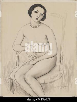". Anglais: NILS VON DARDEL 'Armeniska Signerad daterad' Dardel och 1930. Blyerts 63 x 48 cm. 7 juin 2015. Nils von Dardel (1888-1943) 446 NILS VON DARDEL ""Armeniska"""