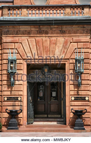 Hiram Walker and Sons Canadian Club bâtiment principal à Windsor, Ontario, Canada. L'immeuble de bureaux principal de Hiram Walker and Sons Limited est une magnific Banque D'Images