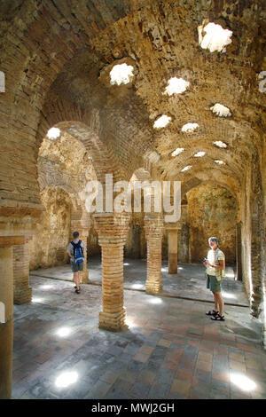 De los Baños Arabes / bains maures ou des bains arabes, Ronda, Andalousie, Espagne Banque D'Images