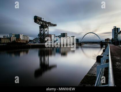 L'Arc, Rivière Clyde Clyde, Glasgow, Écosse, Royaume-Uni, Europe