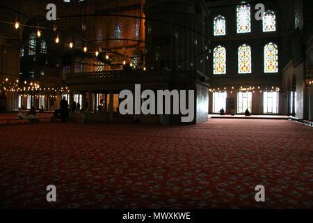 Mosquée rouge Istanbul vue extérieure Banque D'Images