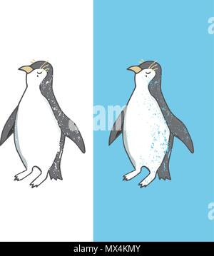 Caractere Penguin Vector Illustration Geometrique Dessin Animal