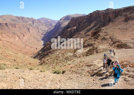 Randonnées dans la vallée de Todra Maroc