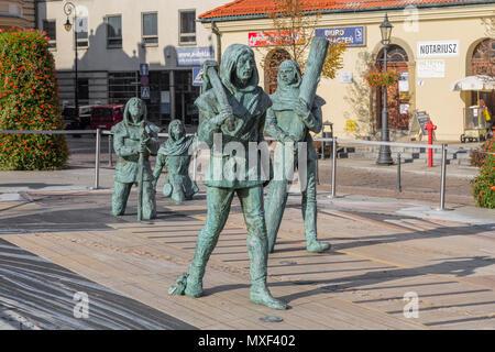 WIELICZKA, Pologne - 26 octobre 2015: Sculpture mineurs venant de l'underground mine de sel de Wieliczka. Pologne Banque D'Images