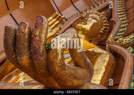 Wat Tham Seu ou Temple du Grand Bouddha. Ban Muang Tambon Muang 3 Um Chum Chum, Amphoe Tha Muang, Kanchanaburi. Thaïlande Banque D'Images