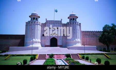 Alamgiri porte du fort de Lahore aka Shahi qila à Lahore, au Pakistan. Banque D'Images